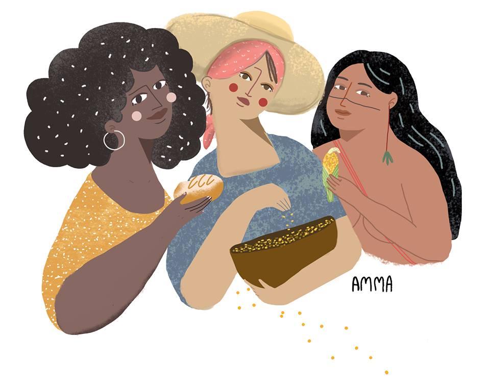 Ilustração de Amma, que financiou o livro Você É Feminista e Não Sabe, ao lado de Angelica Kalil, no Catarse