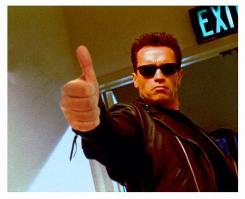 Terminator giving a thumbs up