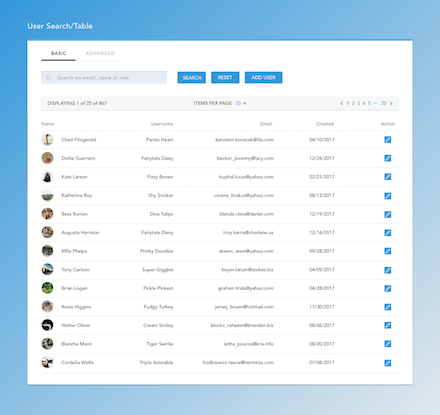 four eyes designs ui ux user search example