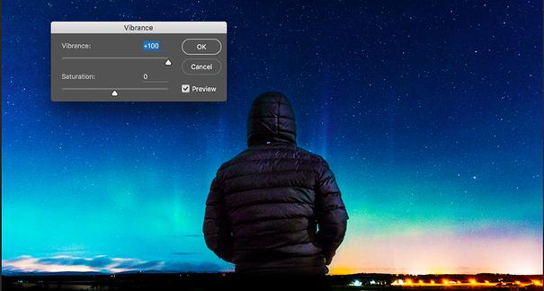 Photoshop vibrance tool