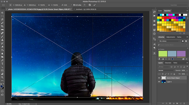 Image being dragged into Photoshop