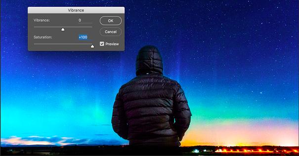 Photoshop saturation tool
