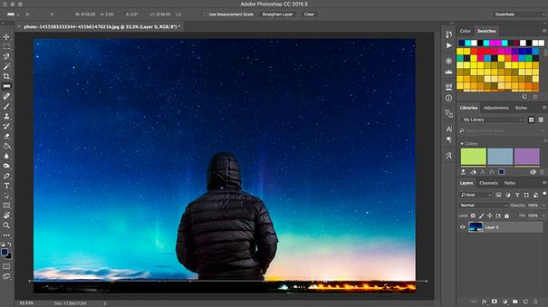 Photoshop image orientation adjustment