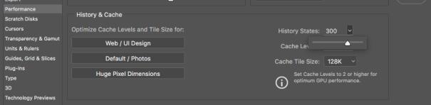 Photoshop preferences menu