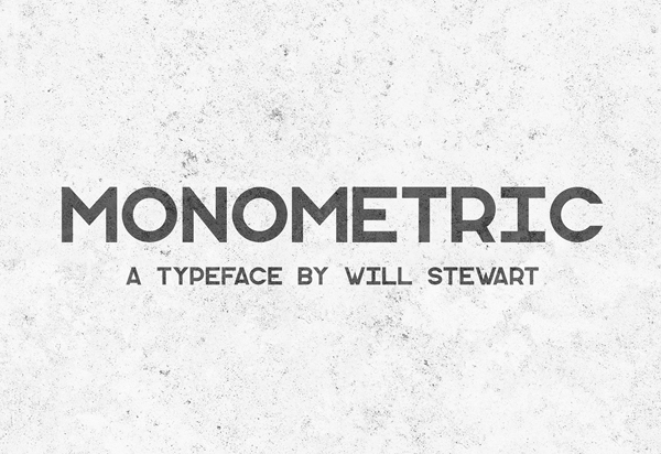 Monometric Free Sans Serif Typeface
