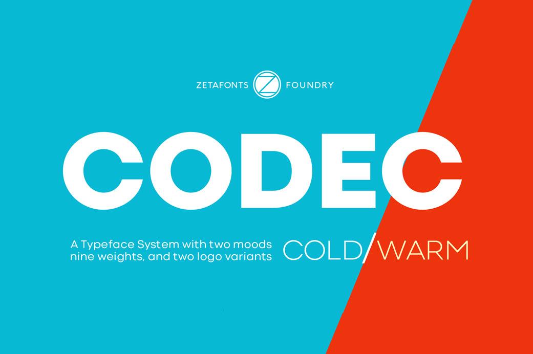 Codec Free Sans Serif Typeface