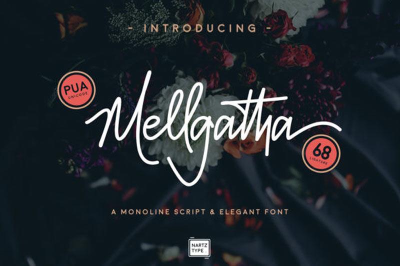 Mellgatha Free Handwritten Typeface