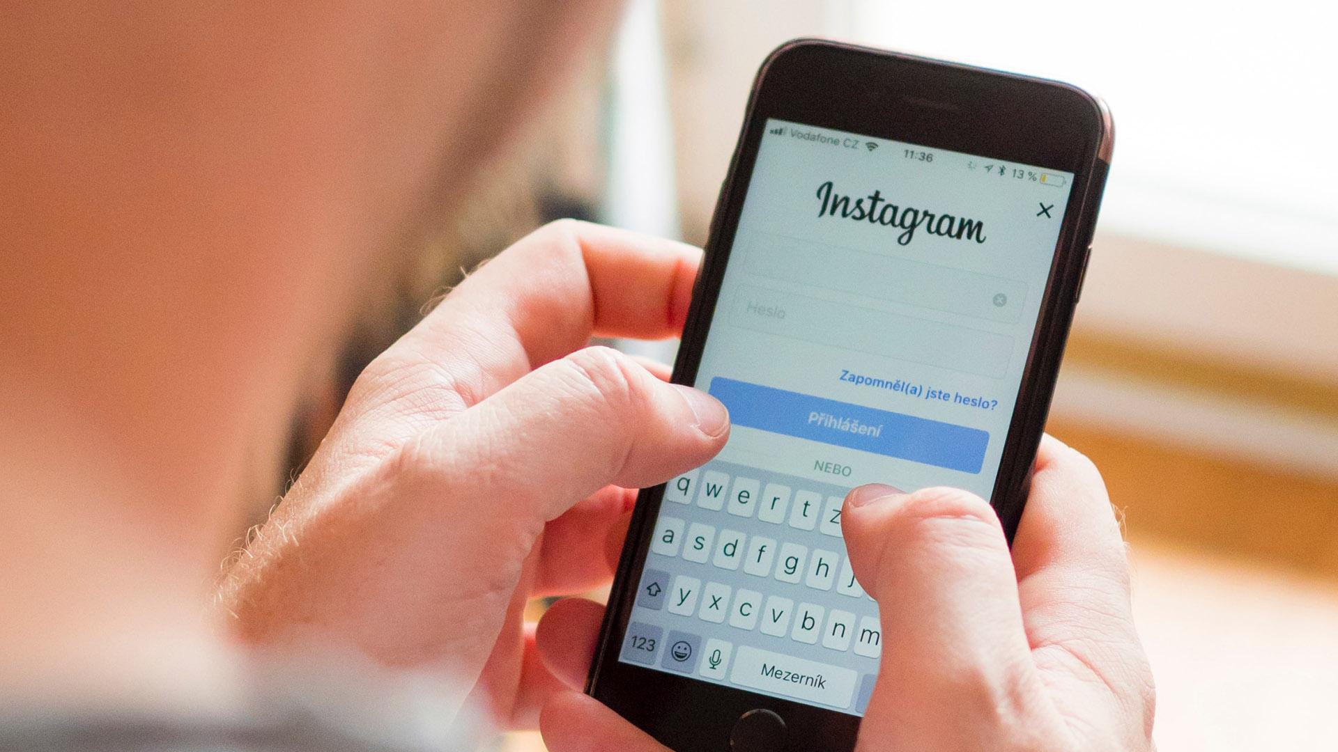 Instagram Mobile App Login Page