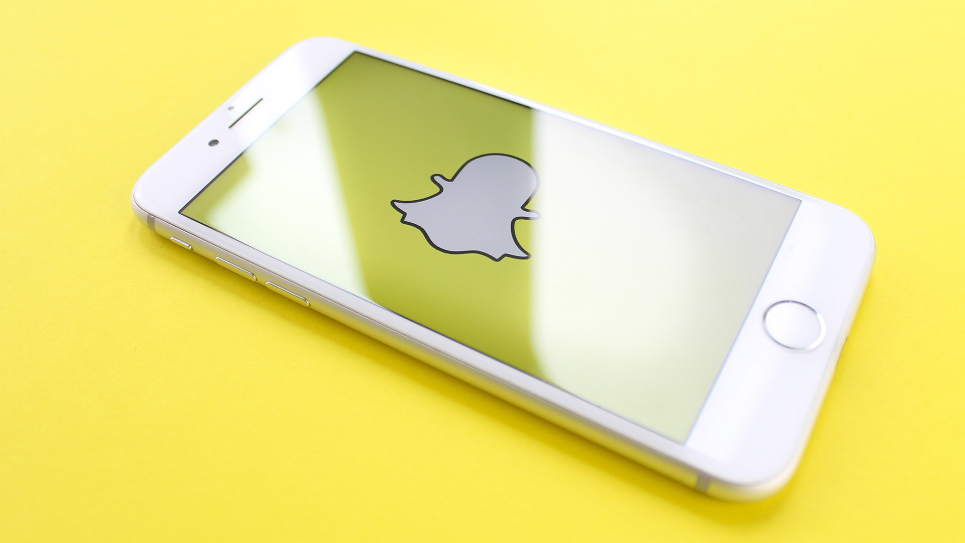 Snapchat Logo On Mobile Phone Screen