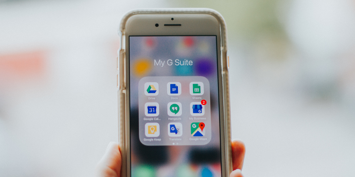 G Suite Applications on Smart Phone