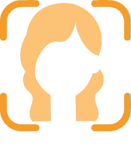 icone montrant la fonctionnalité de la reconnaissance faciale