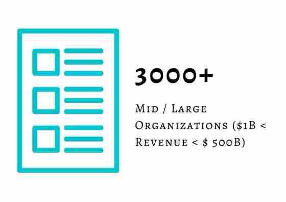 3000+ Mid/Large Organisation