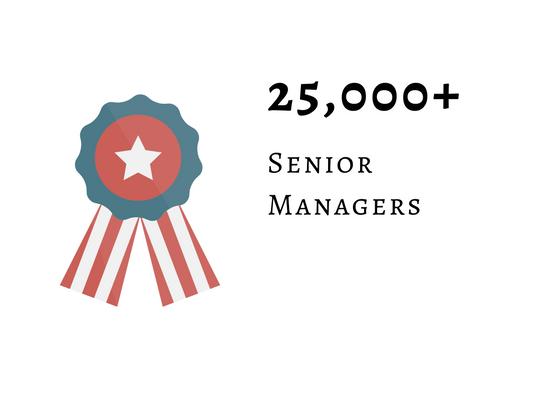 25000+ Senior Managers