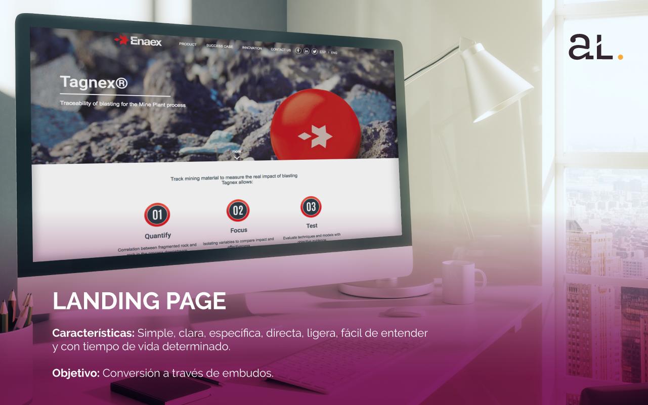 landing page, una one page o un sitio web