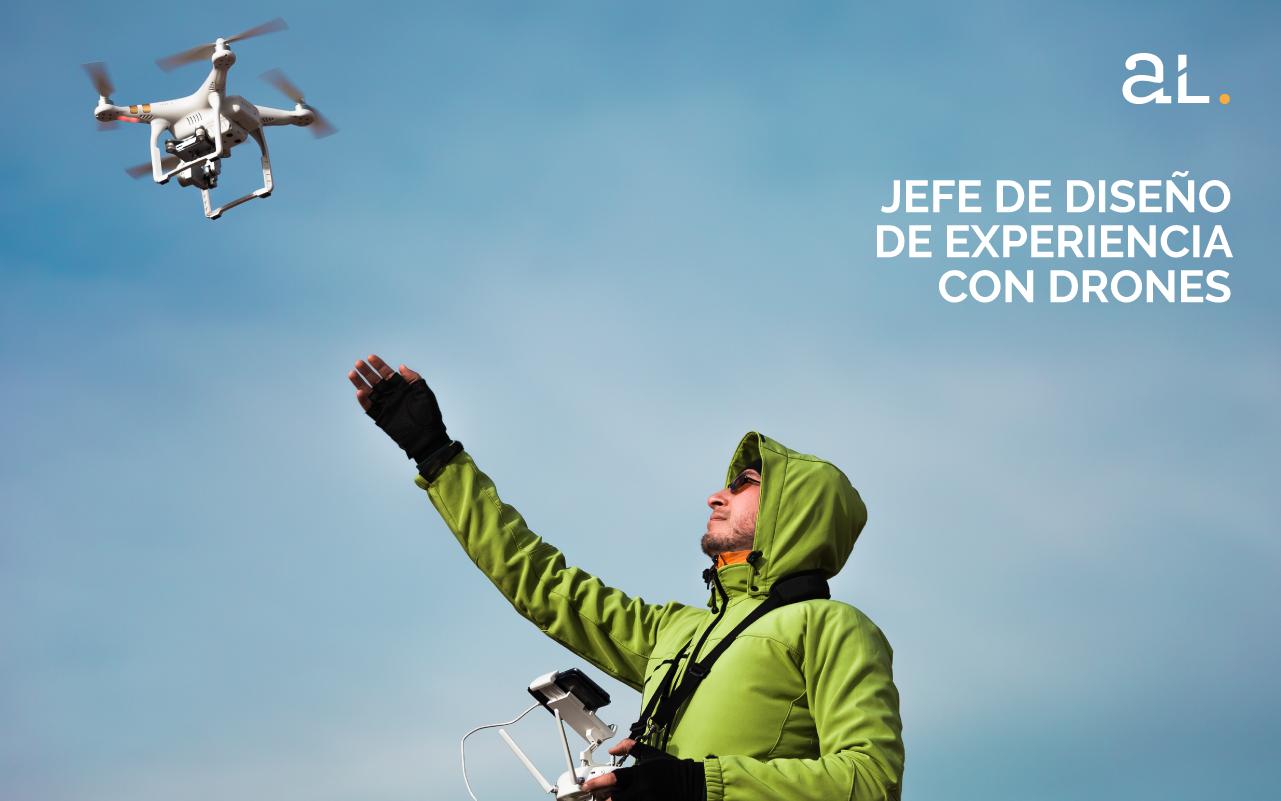 Diseñador de experiencia con drones
