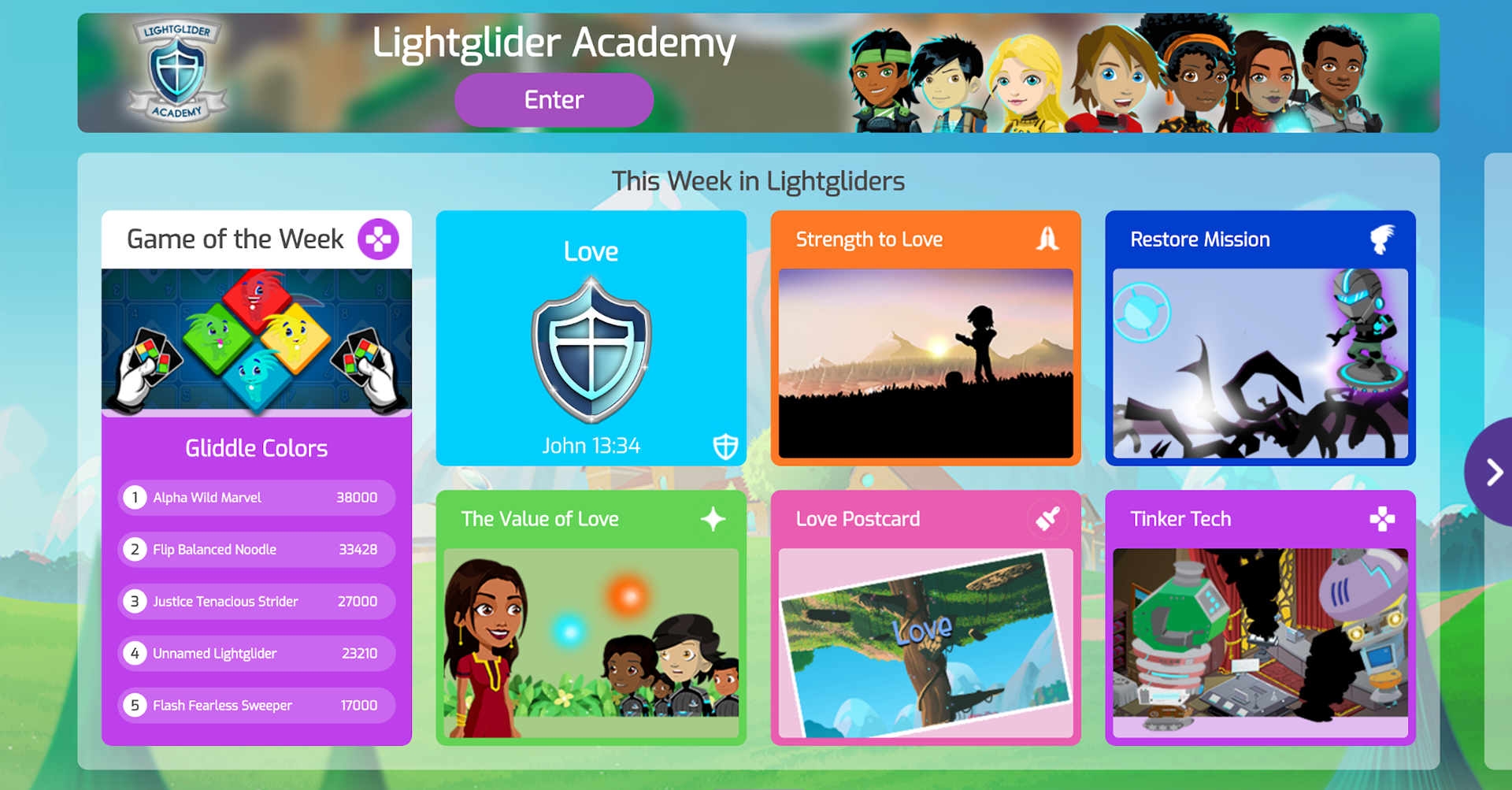 Lightgliders Front Page \(Love\)