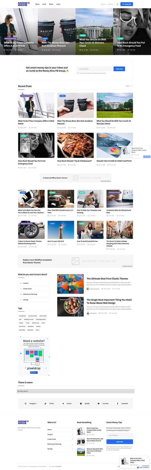 Money Bros Website Mock