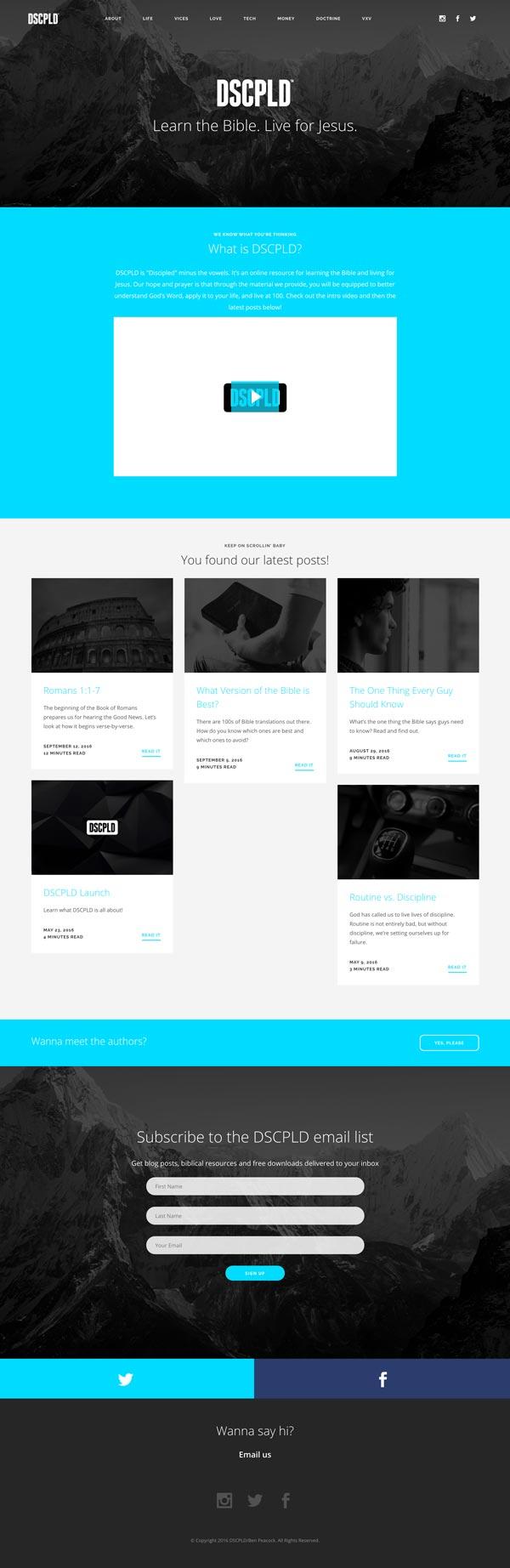DSCPLD Website Mock
