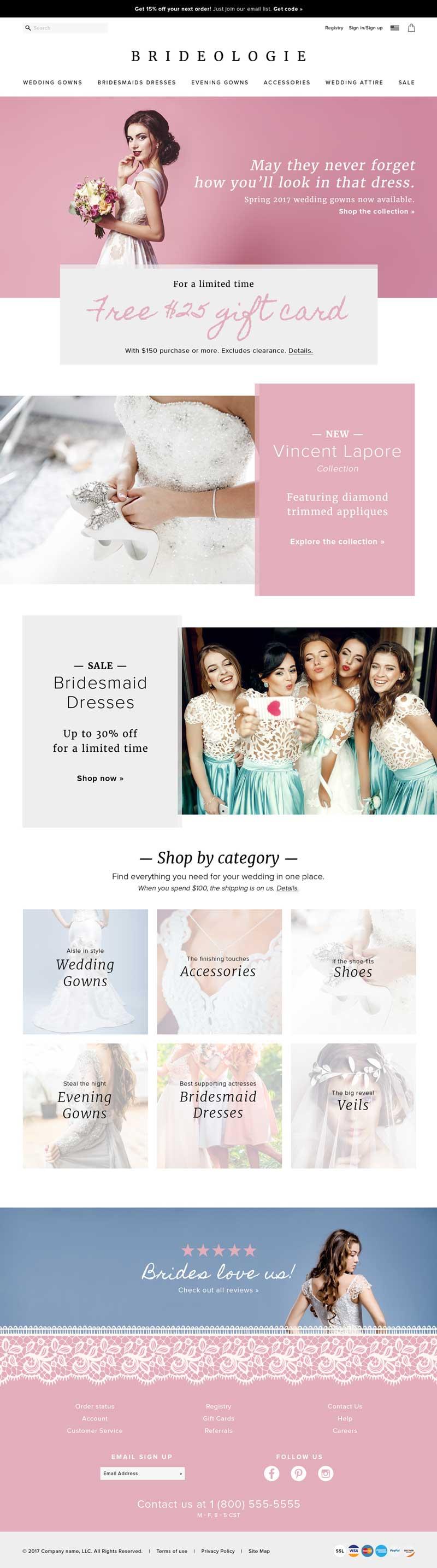 Brideologie Website Mock