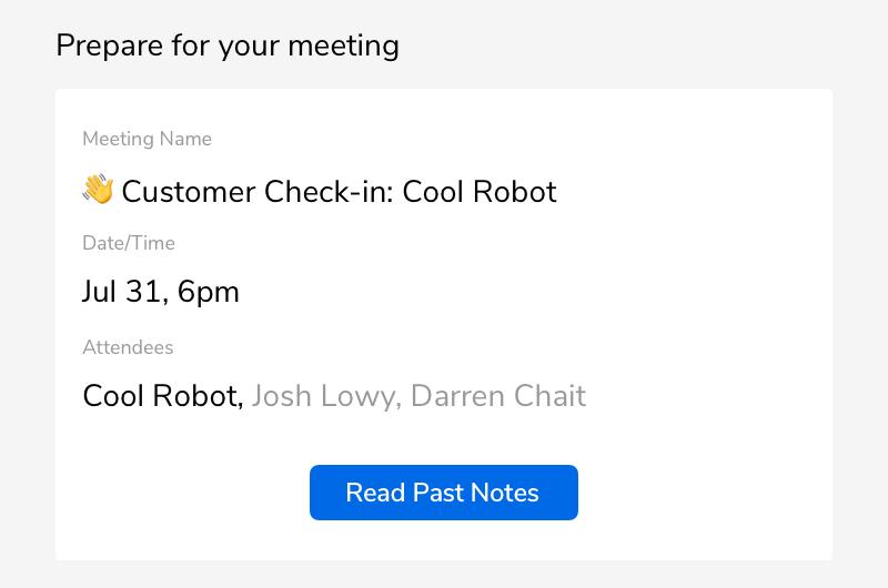 Screenshot - Prepare for Meeting