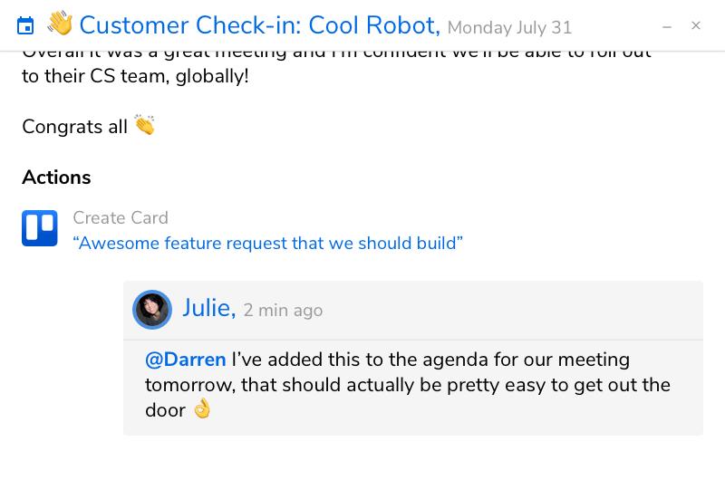 Screenshot - Team Conversation