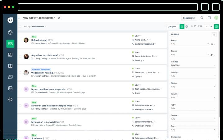 Freshdesk Screen