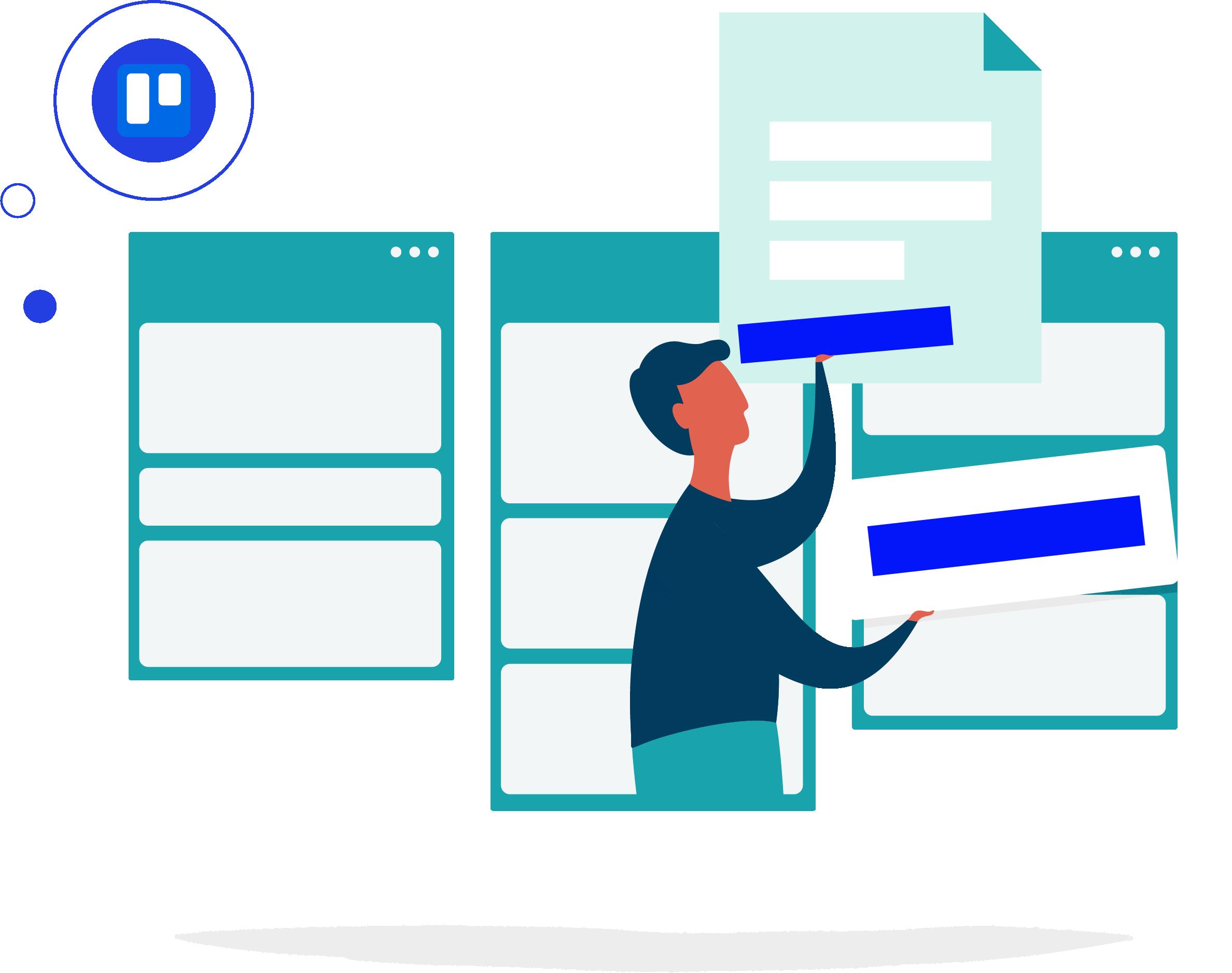 Meeting workflow illustration