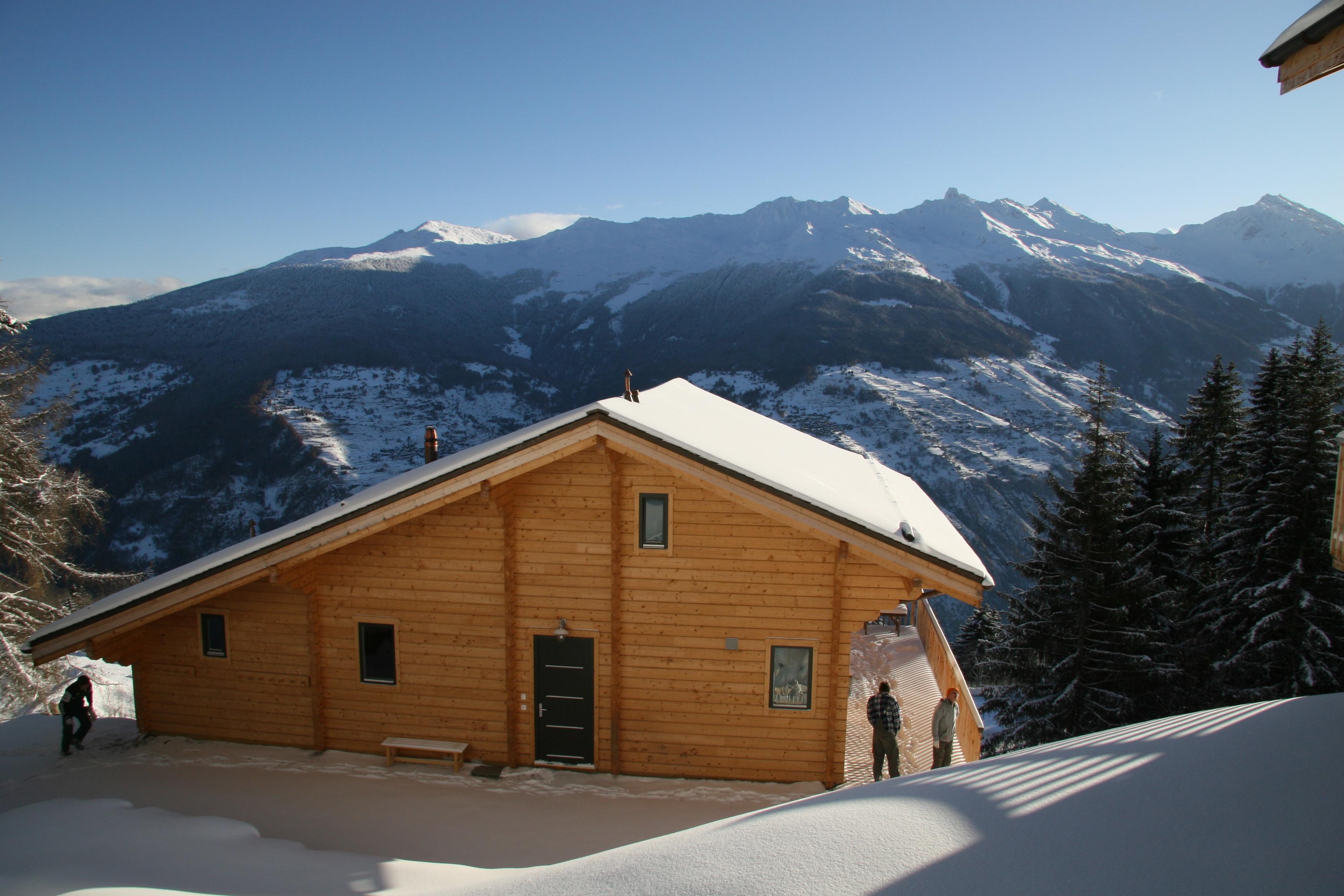 photo of ski chalet in valais switzerland