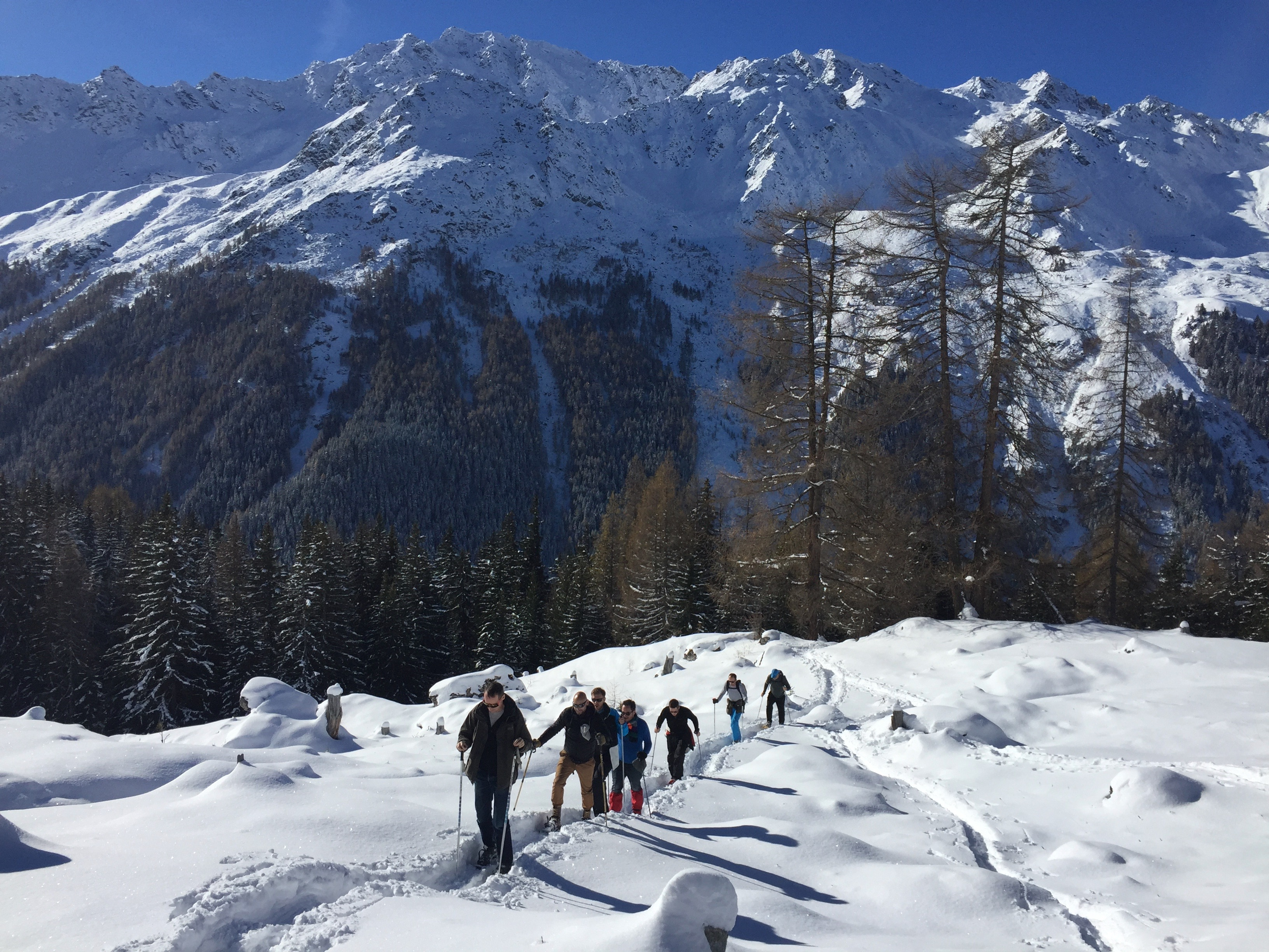 Snow-shoeing is a fantastic way of enjoying magical winter landscapes if you do not wish to ski.