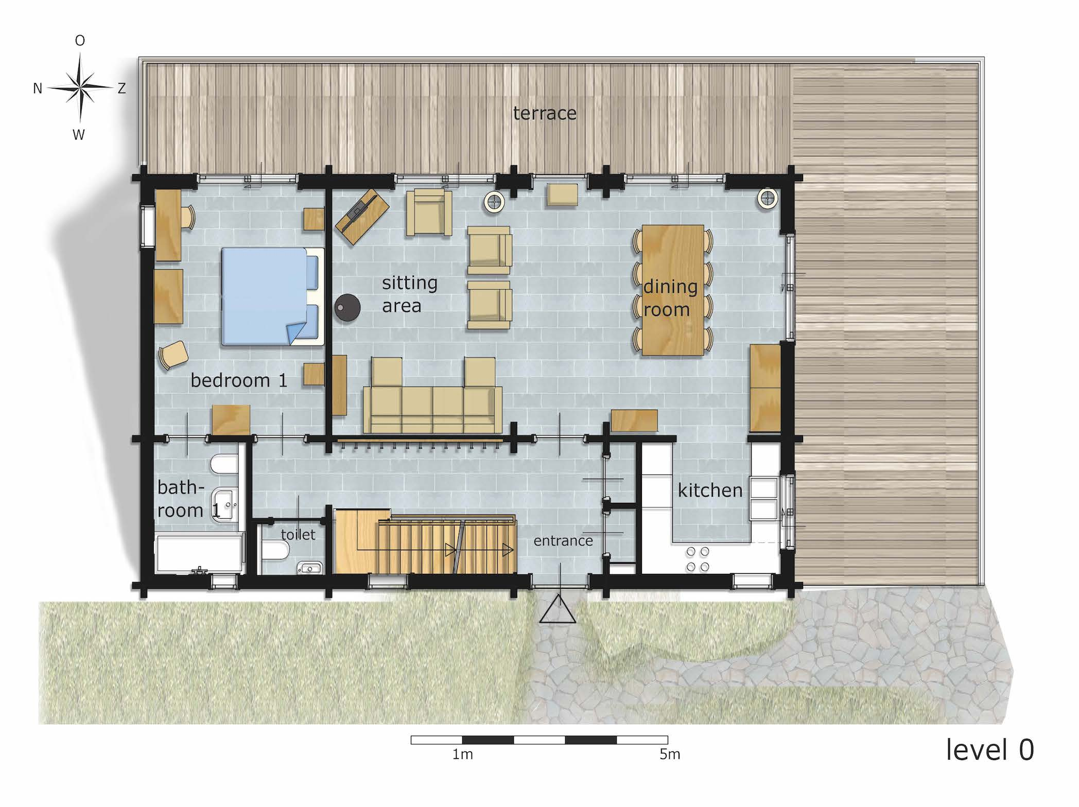 Holiday Home Floor Plan Level 0