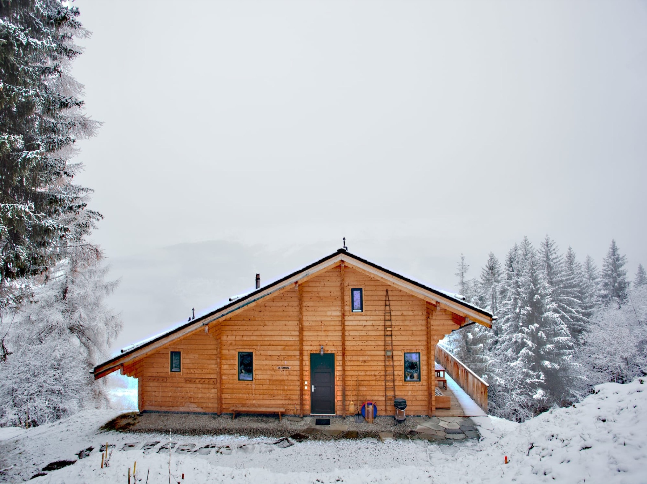 photo of ski chalet in valais switzerland