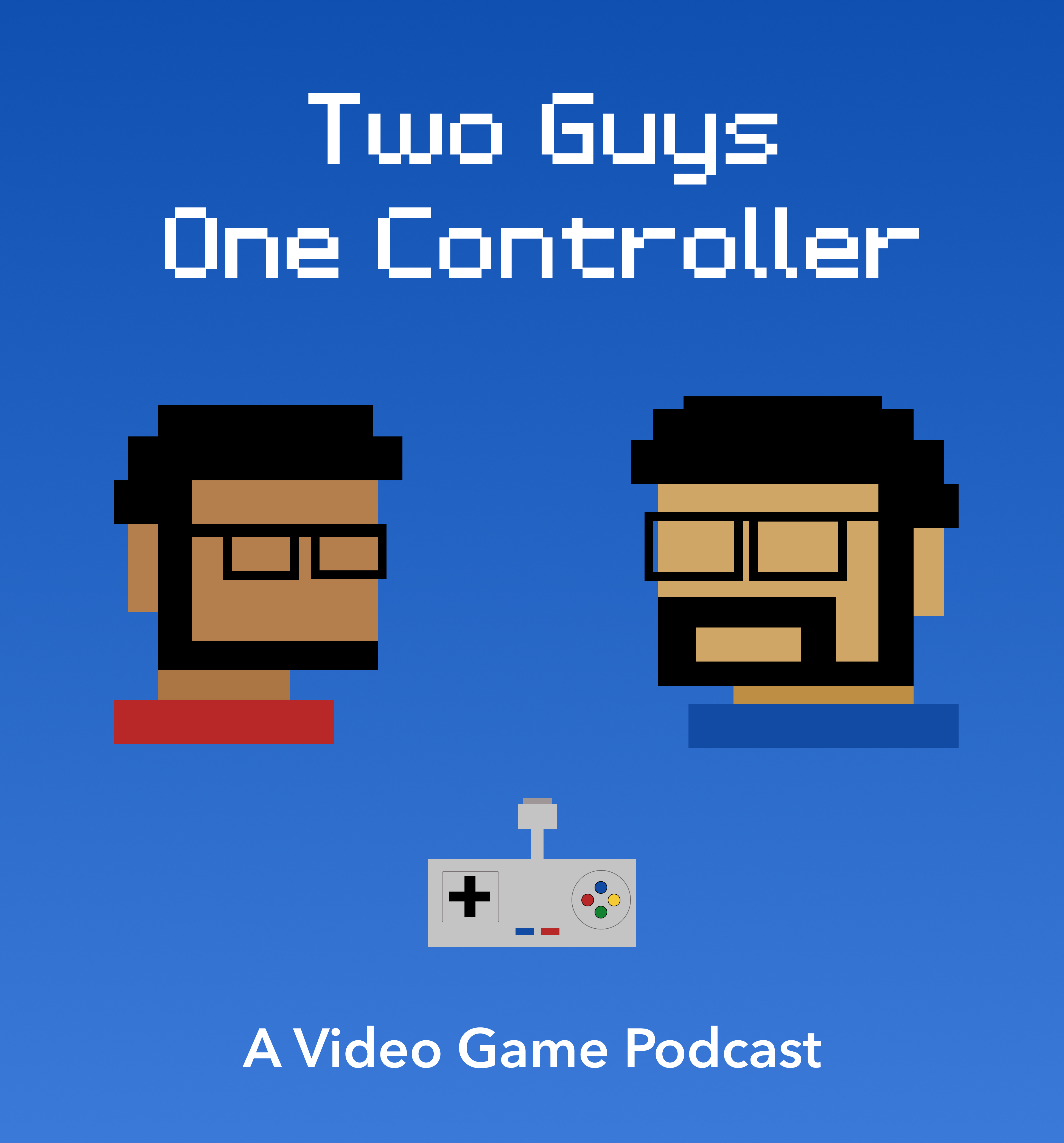 Cover with the two pixelated hosts