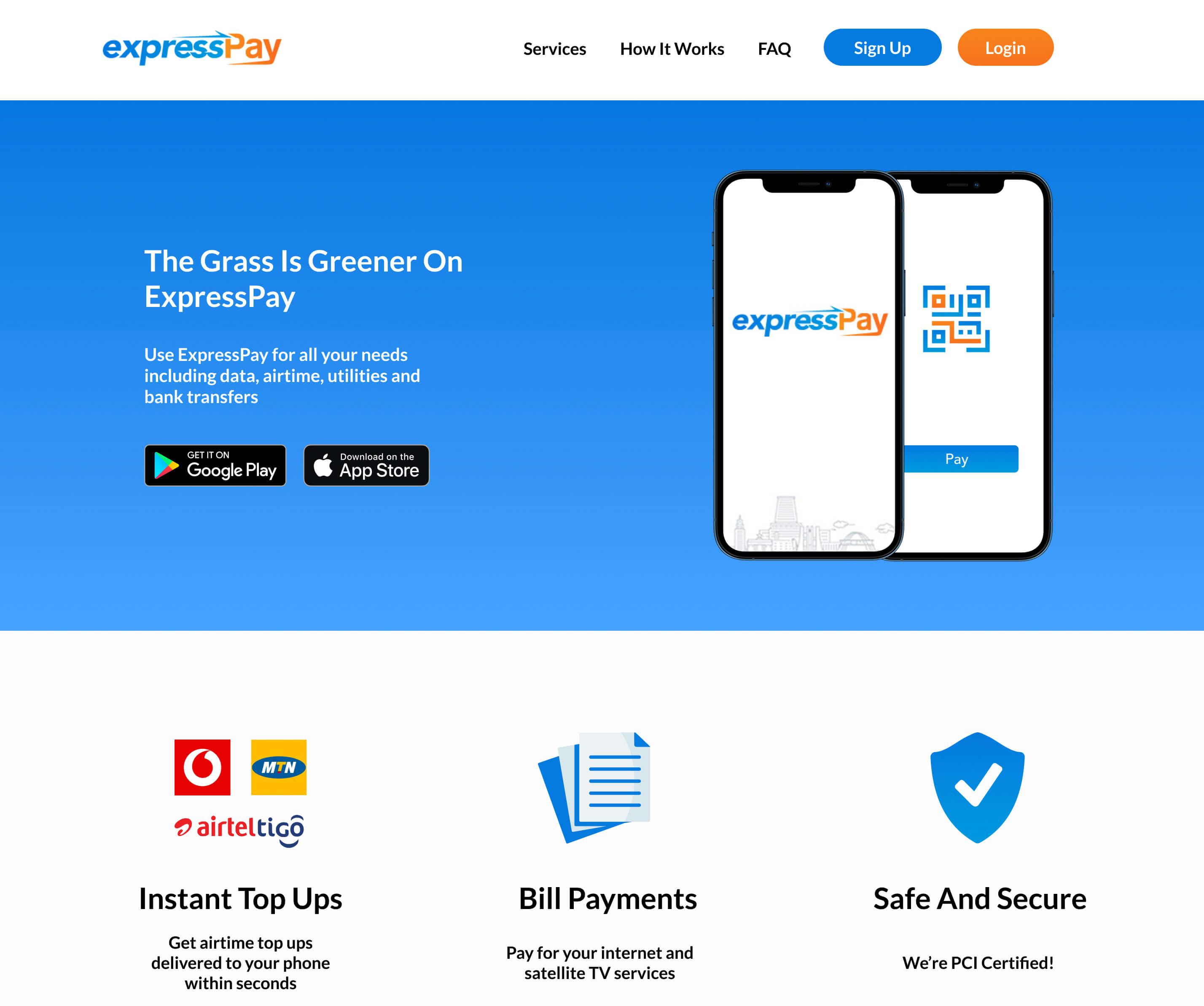 New expresspay website