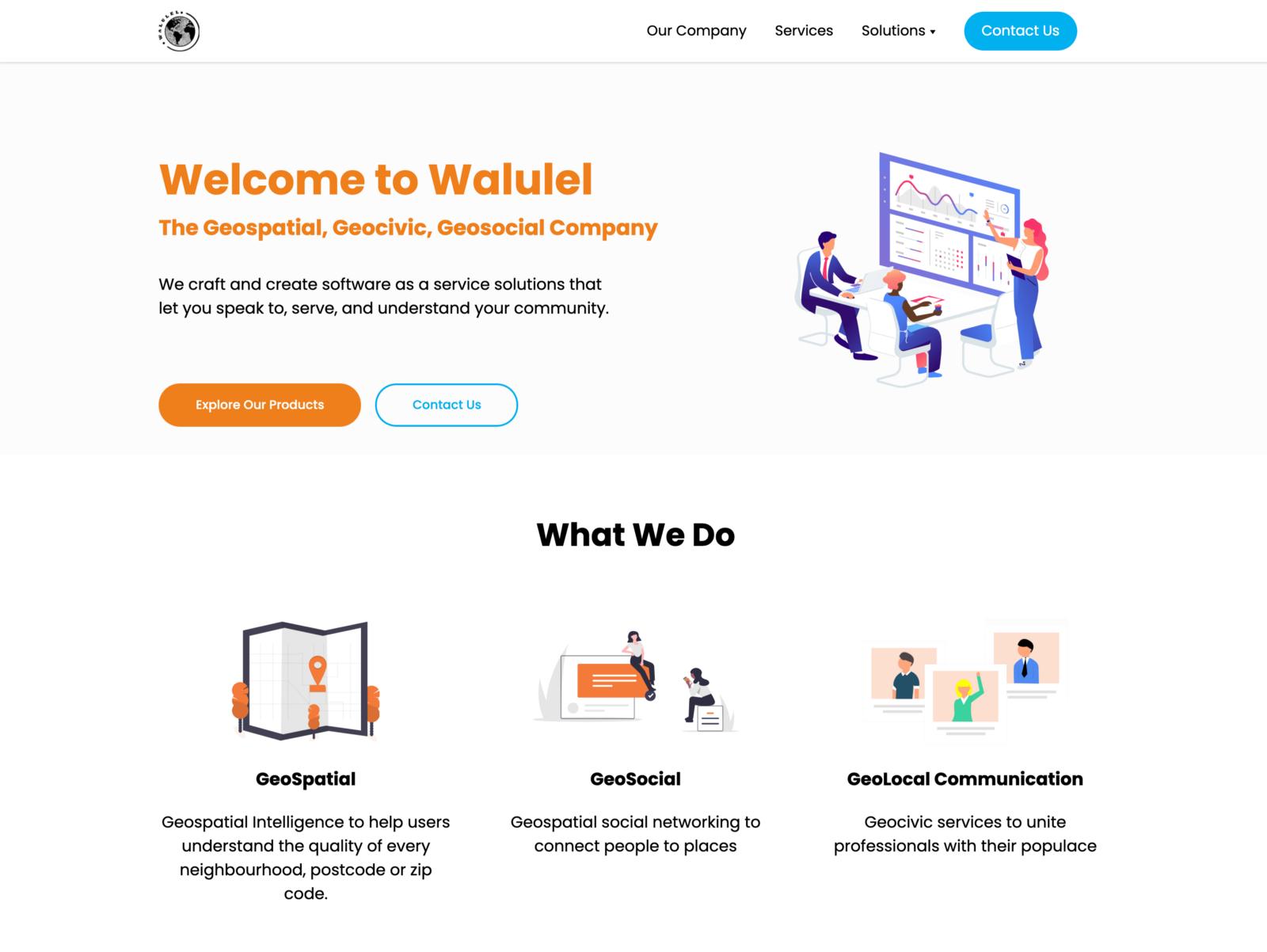 Screenshot of new Walulel website