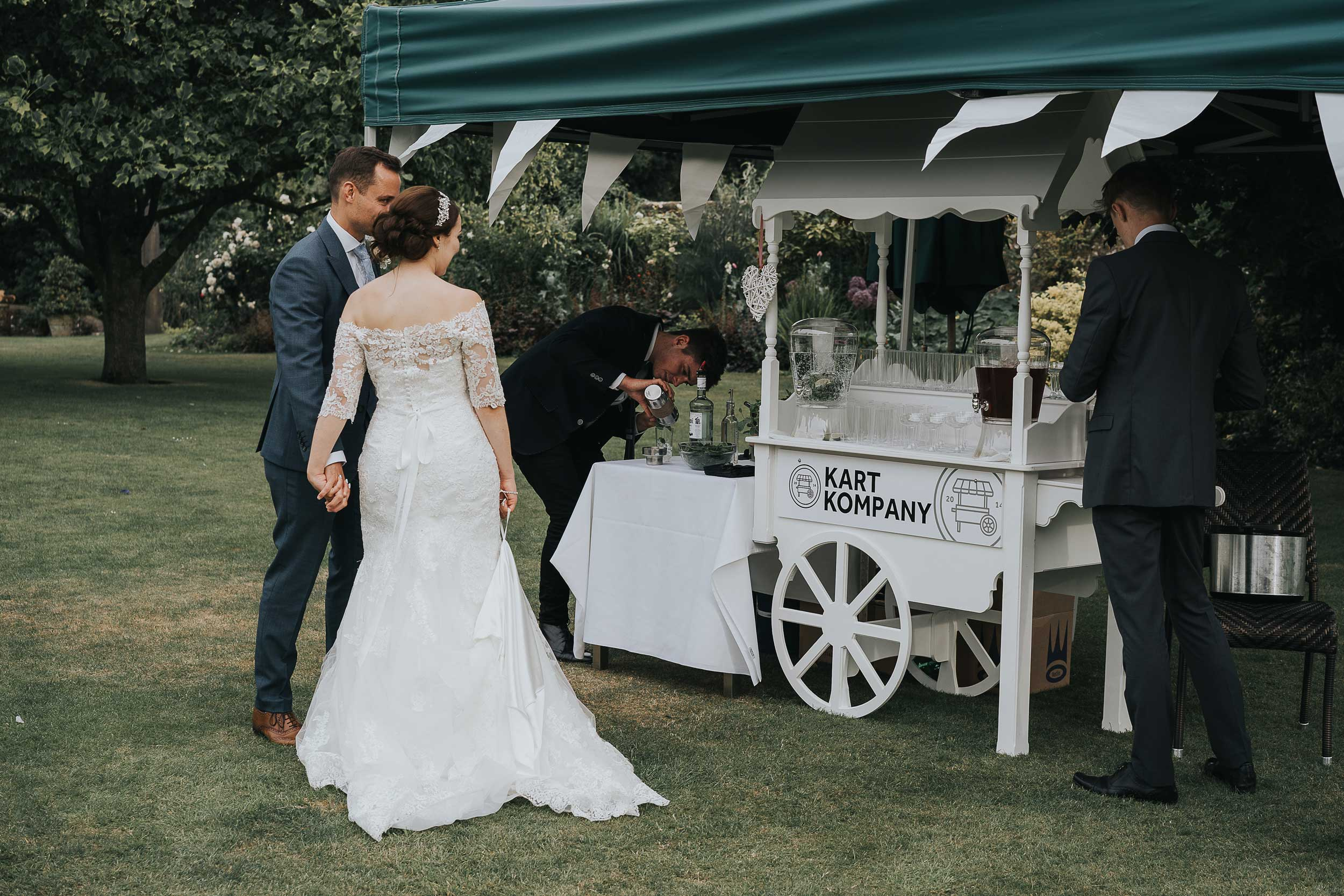 Wedding cocktail cart