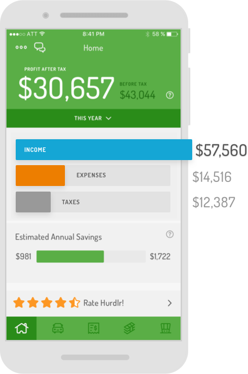 hurdlr simple financials for real estate agents