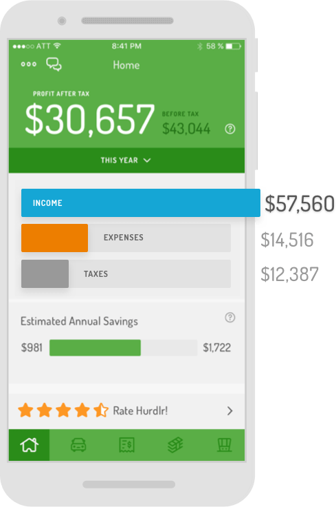 automatic business expense and mileage tracker hurdlr