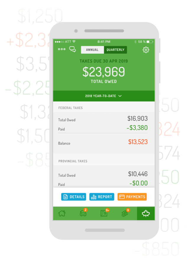 Real-time tax deduction tracker app