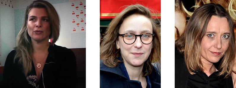 Emilie Jouvet, Céline Sciamma et Virginie Despentes