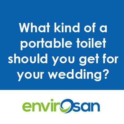 portable toilet for weddings