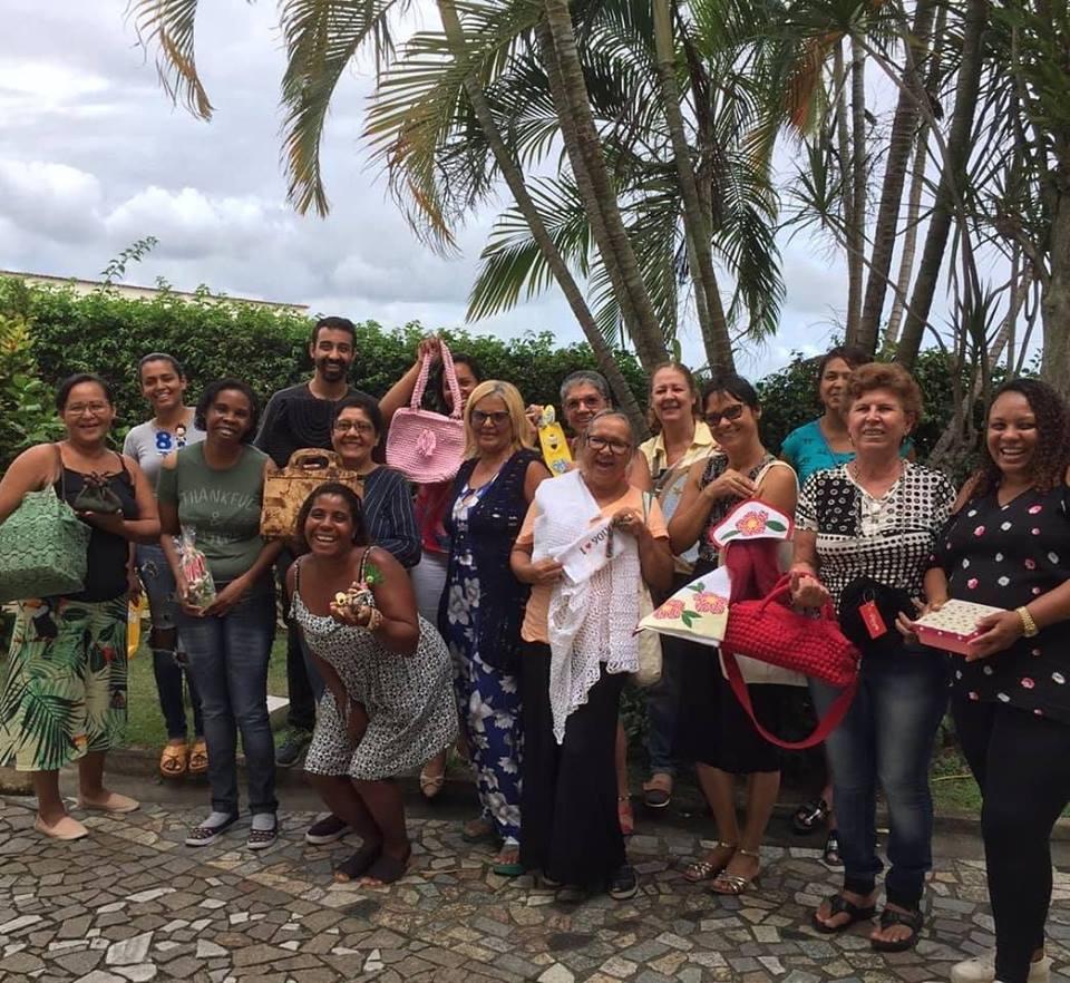 Turma da Escola de Negócio das Artesãs em Itaguaí/RJ financiada pelo Porto Sudeste