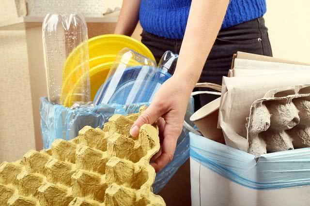 Separação do lixo doméstico