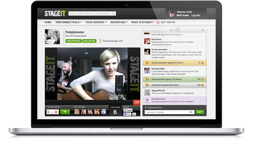 Stageit | A front row seat to a backstage experience.™