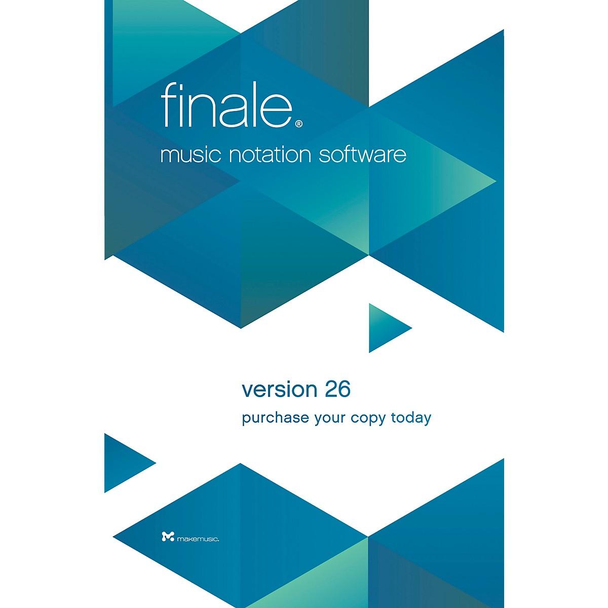 Makemusic Finale Music Notation Software V26 Academic Dealer Download |  Guitar Center