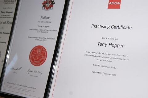 Terry Hopper Practising Certificate
