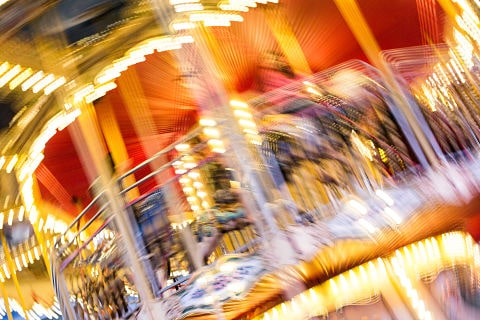 Crazy blurred carousel