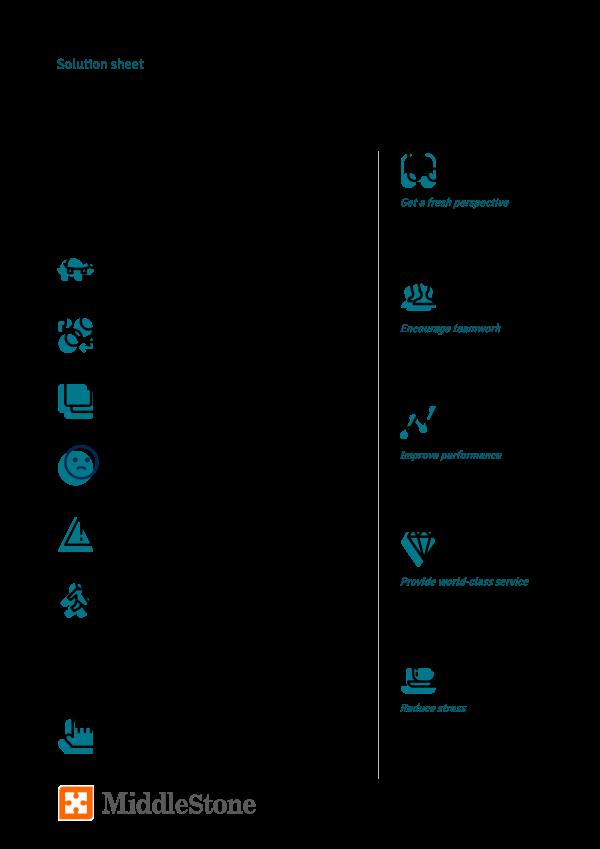 Process improvement solution sheet