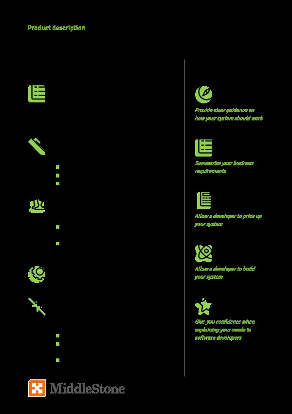 Requirements document product description