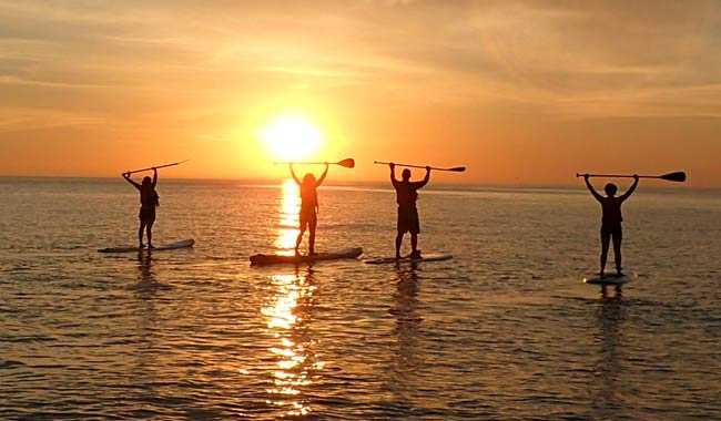 SUP+SIP Sunset/Full Moon Paddle