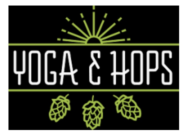 YOGA+HOPS at the Sip+Shop Holiday event at the South O Walkabout
